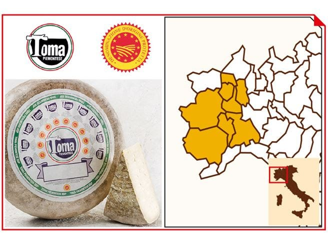 Toma Piemontese Dop