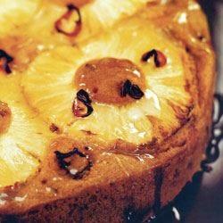 Torta di ananas con peperoncino