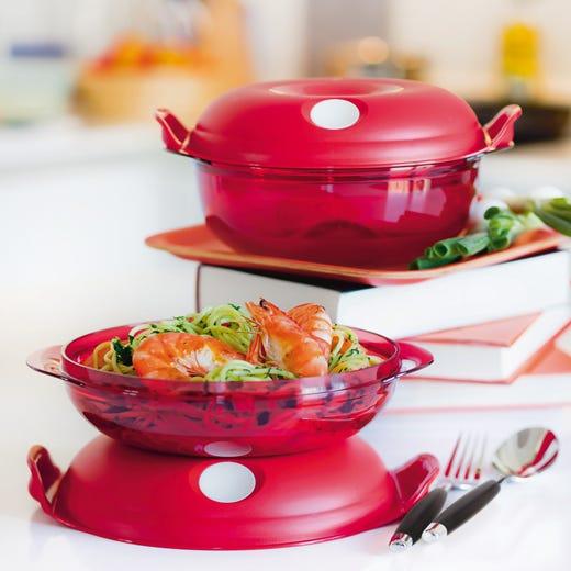 Novit tupperware per il microonde il piacere di una cucina sana e leggera italia a tavola - Cucinare a microonde ...