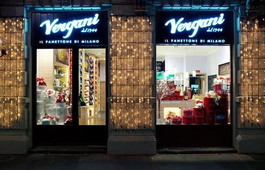 Nuova boutique gourmand VerganiPer acquistare il panettone tutto l'anno