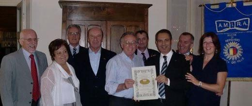 Al ristorante Villa Manzoni di Cologno il premio Cravattino d'oro Amira