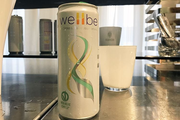 Wellbe, integratore alimentare in lattina La bevanda abbatti-stress made in Italy