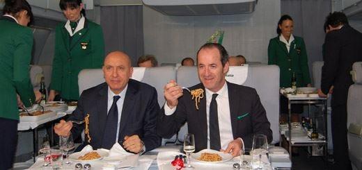 """La migliore cucina """"in quota"""" Per l'America è quella di Alitalia"""